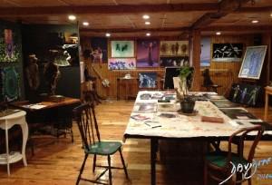 This the artists studio in Newton Massachusetts Davidoff Art Copyright 2014
